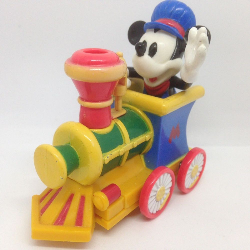 Disney Mickey Mouse Train Engine Die Cast Metal Toy Figure